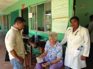 Dr. Salas, Sister Ann, student Cleotilde